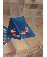 Longaberger Napkins Fall Early Harvest Blue Autumn Set Of 4 New In Bag - $21.73