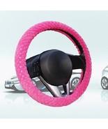 Pearl Velvet Winter Car Rose Red Steering Wheel Cover Soft Warm Plush Un... - $6.80