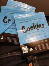 Cookies Bags SF Blue x50 Samples - Collectable blue cookie bags wholesale - $49.95