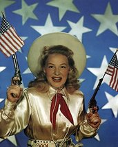 Betty Hutton in Annie Get Your Gun classic pose with American flag and g... - £42.73 GBP