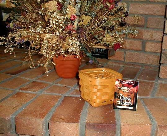 Longaberger Teaspoon Basket Cottage Trellis Blue White Fabric OE Liner New