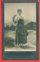 M175504 / Switzerland Art Walter von Vigier - WOMAN gather Fragaria vesca - $9.00