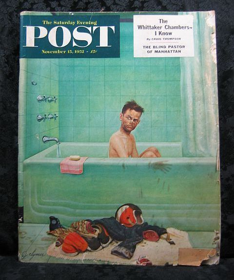 Saturday Evening Post November 15, 1952 Clymer Cover