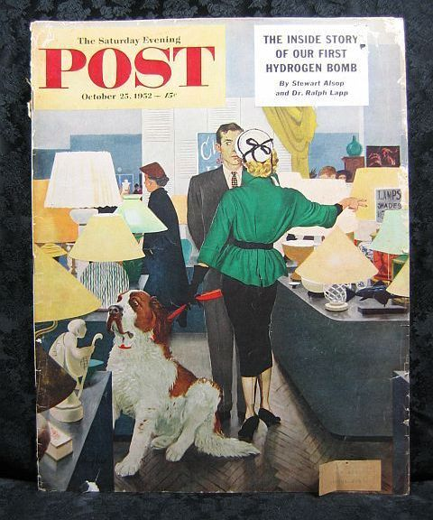 Saturday Evening Post October 25, 1952 G Hughes Cover