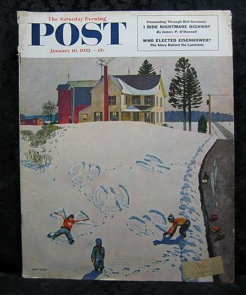 Saturday Evening Post January 10, 1953 John Falter Cover