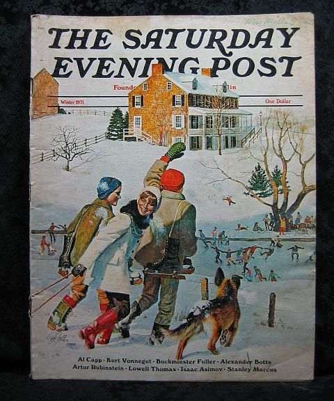 Primary image for The Saturday Evening Post Winter 1971 John Falter Cover