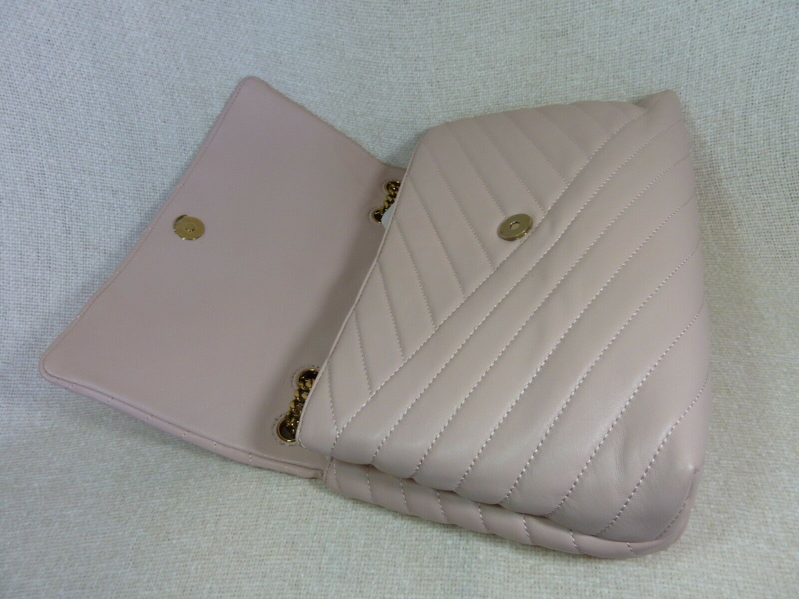 NWT Tory Burch Pink Moon Kira Chevron Convertible Shoulder Bag $528 image 9