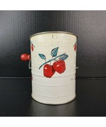 Vintage Bromwell's Flour Sifter 3 Cup Farmhouse Kitchen Apple Motif Made... - $24.99