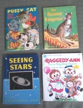 4 Books Mid Century Tell a Tale Jr Elf Pussy Cat Kangaroos Stars Constellations - $29.69