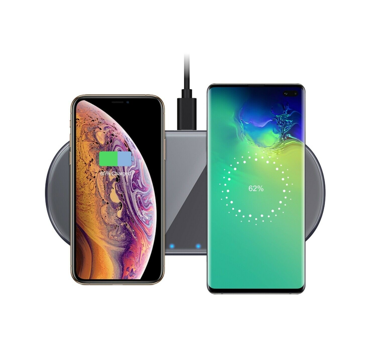 Primary image for Techno S Fast Qi Dual Wireless Dock Charging Station for Apple,Samsung, Huawei