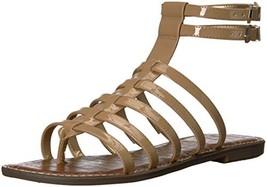 Sam Edelman Women's Gilda Flat Sandal (9.5|Almond Patent) - $58.18