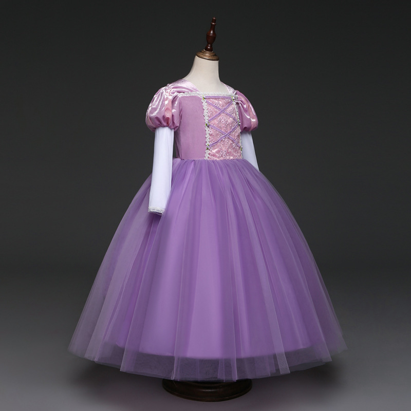 Short Sleeve Sexy Purple Tulle Pricess Wedding Flower Girls Dresses Party Gowns  image 5
