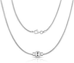 Jewelry Sterling Silver Necklace With Silver Ball 16 inch Premium Snake ... - $169.78