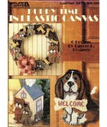7 Plastic Canvas Puppy Dog Tissue Cover Basket Doorstop Sign Mask Pattern - $12.99