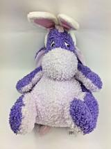 """Eeyore Easter Purple Disney Bunny Rabbit Pink Curly Plush Stuffed Jumbo 20"""" - $27.59"""