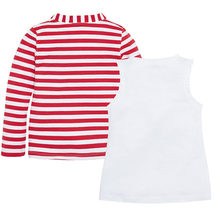 Mayoral Little Girls 2T-9 Graphic Print Tank And Stripe Cardigan Set image 2