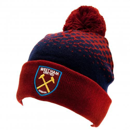 West Ham Cuff Bobble Knitted Hat #aah image 2