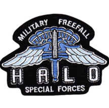 "4.25"" Army Halo Military Freefall Special Forces Embroidered Patch - $23.74"