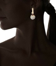 Large Daniela Swaebe 18K Gold-Plated Disco Diva Rectangle Drop Earrings image 2