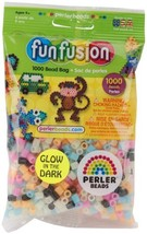 Perler Fun Fushion Beads 1000/Pkg-Glow In The Dark Perler Fun Fushion Be... - $6.47