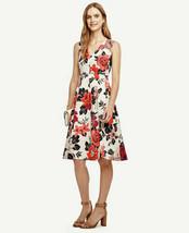Ann Taylor Floral Sleeveless Pleated Skirt Dress 8 - $48.00