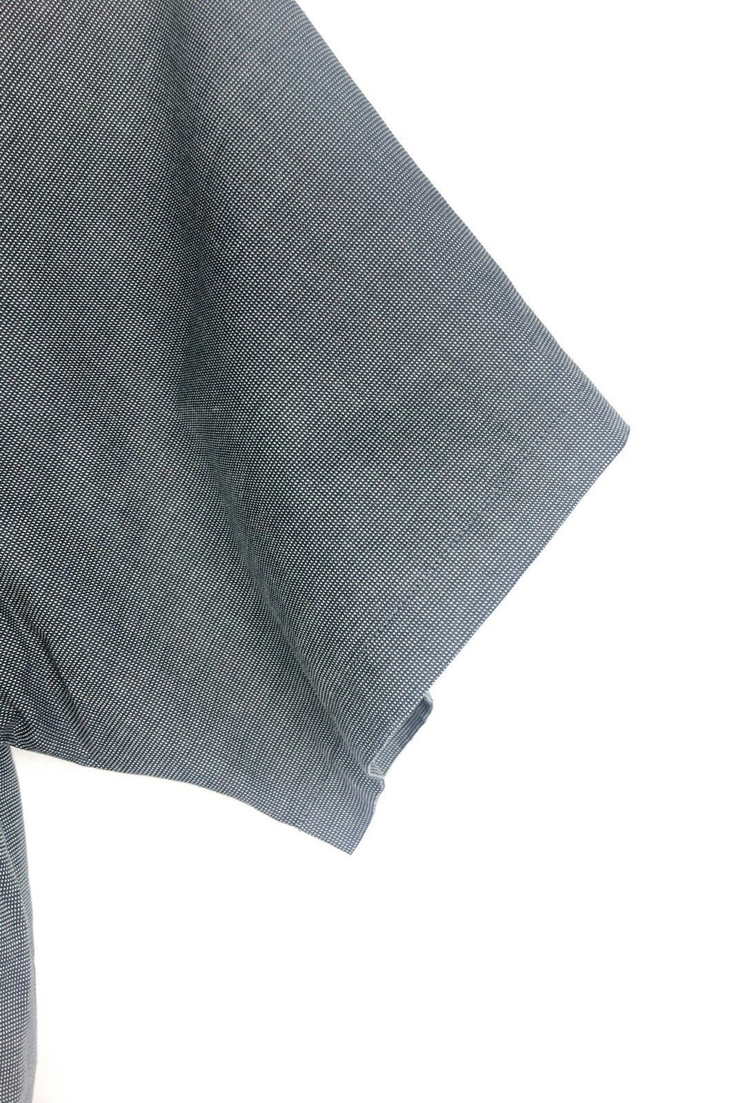 Cutter Buck Shirt Men's 2XT Grey Micro Plaid Long Sleeve Button Front Oxford  image 4