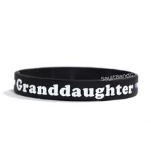 1 Grenddaughter Thin Blue Line Wristband, Quality Debossed Color Filled Bracelet - $1.97