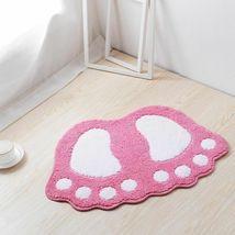Bath Mats Water Absorption Mini Carpet Foot Print Non Slip Toilet Microfiber Pad image 6