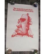 Anti Richard Nixon Poster Political Satire Art the majority is not silen... - $28.99