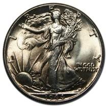 1944 Walking Liberty Silver Half Dollar Coin Lot # A 5565