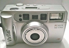 Vivitar PZ3115 35mm Point & Shoot Auto Focus Camera with Power Zoom Lens... - $21.72