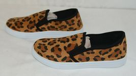 Soho Girls Jerry 2 Leopard Flat Rubber Sole Slip On Comfort Sneakers Size 8 Half image 5