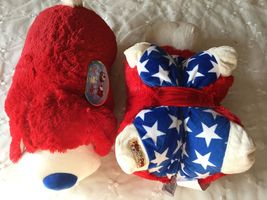 """Authentic Pillow Pets Dog Patriotic USA Large 18"""" Plush Gift Puppy Toy D... - $39.59"""