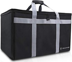 Insulated Food Delivery Bag - Waterproof Warmer Cooler Grocery Storage B... - £32.22 GBP