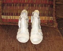 "Liz Claiborne ""Tacy"" nude sandals 8.5m    - $30.00"