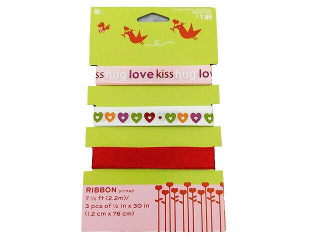 Holiday Ribbon, Set of 3, 7.5 Feet