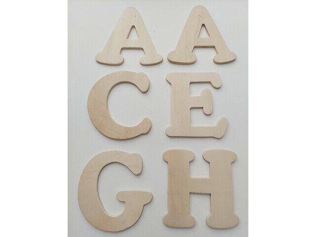 """Wood Pine 3.5"""" x 4"""" Alphabet Letters (See Description)"""