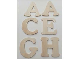 """Wood Pine 3.5"""" x 4"""" Alphabet Letters (See Description) image 1"""