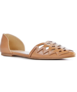 New JustFab Amalie in Cognac Brown Pointed Toe Flats US Size 9 - $25.55