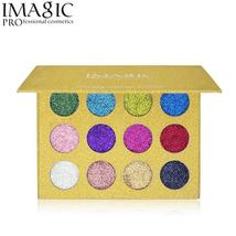 Imagic 12 Color Highly Pigmented Diamond Glitter Eye Shadow Palette Flas... - $14.64