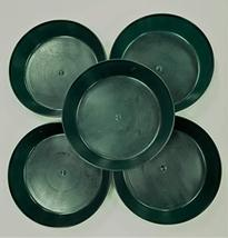 14 inch Case of 5 Austin Planter Saucers Hunter Green Colored Polypropylene - $35.00