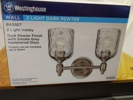 "Westinghouse 6326500 Basset 2 Light 14-1/8"" Wide Bathroom Vanity Light - $46.40"