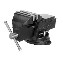 Power Hand Tool Four Inches Swivel Bench Vise Durable Cast Iron Holes An... - $43.73