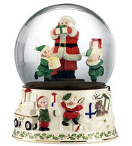 Lenox Holiday Musical Snow Globe Santa Plays Jolly Old St. Nicholas New ... - $108.90