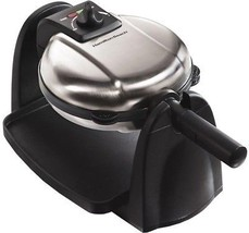 Hamilton Beach Waffle Maker 2-Nonstick Plates Adjustable Browning Control - $65.86 CAD
