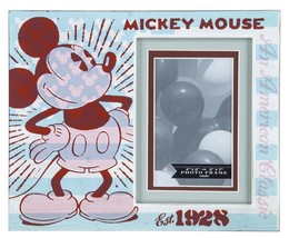 Disney Parks Mickey Mouse Est. 1928 Wood Photo Picture Frame New - $36.76