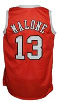 Moses Malone #13 Spirits of St Louis Aba Basketball Jersey New Orange Any Size image 4