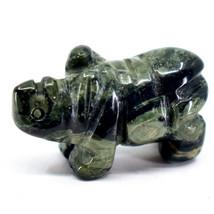 Kambaba Jasper Gemstone Miniature Rhinoceros Rhino Figurine Hand Carved in China image 2