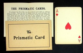 The Prismatic Cards Vintage Magic Card Trick With Instructions Illusion - $8.50