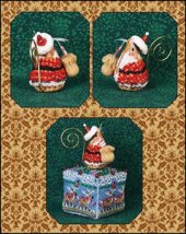 Gingerbread Santa Mouse Ornament LIMITED EDITION KIT 2016 cross stitch J... - $14.00